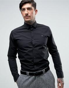 Строгая рубашка слим Farah Berbick - Черный