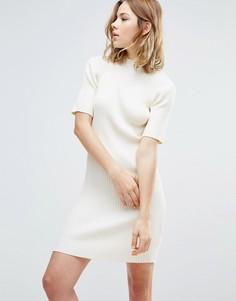Платье-футляр с высокой горловиной First & I - Белый