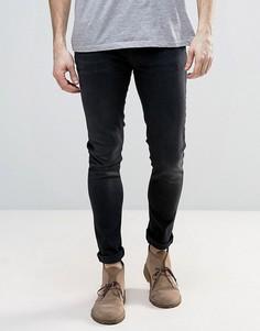 Черные супероблегающие джинсы Nudie - Черный