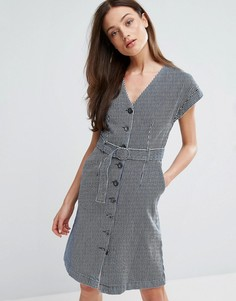 Платье с поясом MiH Jeans Tucson - Синий