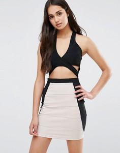Платье с вырезами Girl In Mind - Черный