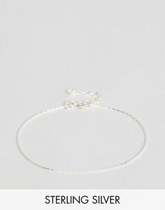 Тонкий браслет-цепочка из серебра ASOS - Серебряный