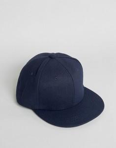 Темно-синяя фетровая бейсболка 7X - Синий