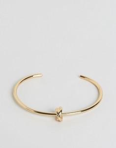 Структурированный браслет с узлом DesignB - Золотой