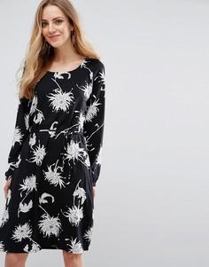 Цельнокройное платье с завязками на талии b.Young Hessio - Мульти