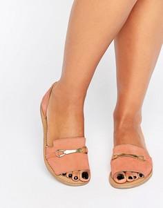 Замшевые летние туфли ASOS JASMINA - Оранжевый