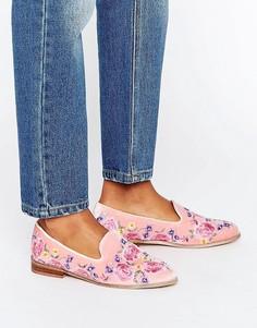 Туфли на плоской подошве с вышивкой ASOS MUSICAL - Розовый