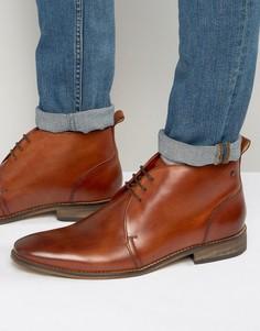 Кожаные ботинки чукка Base London Devon - Рыжий