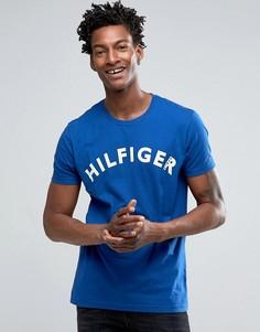 Футболка с большим логотипом Hilfiger Denim - Синий