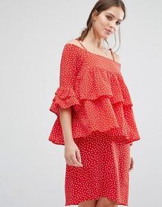 Платье Y.A.S Abby - Красный