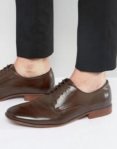 Коричневые туфли дерби из искусственной кожи ASOS - Коричневый