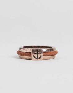 Золотистое кольцо с якорем Icon Brand - Золотой