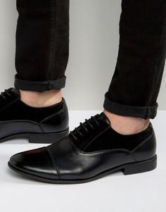 Черные оксфордские туфли из искусственной кожи и замши ASOS - Черный