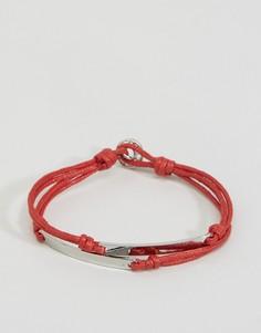 Тканый браслет Icon Brand - Красный