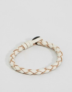 Белый кожаный браслет Icon Brand Premium - Белый