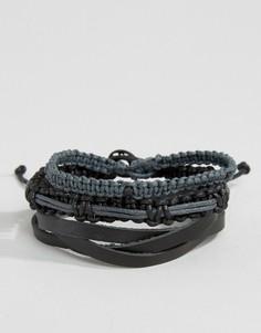 Набор черных браслетов Icon Brand - Черный