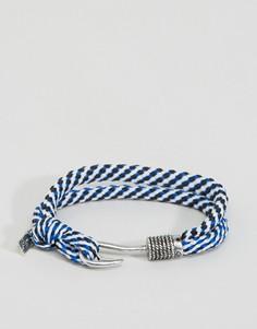 Синий веревочный браслет с застежкой-крючком Icon Brand - Синий