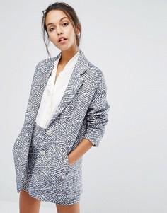 Пальто с принтом Suncoo - Синий