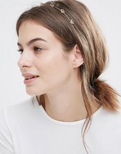 Ободок на голову с декоративной отделкой звездами Orelia - Золотой