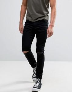 Рваные джинсы скинни Kiomi - Черный
