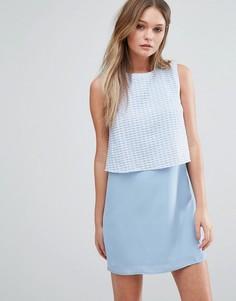 Цельнокройное платье с накладкой на лифе Jovanna Girl Gang - Синий Jovonna