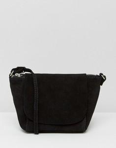 Замшевая сумка через плечо ASOS - Черный