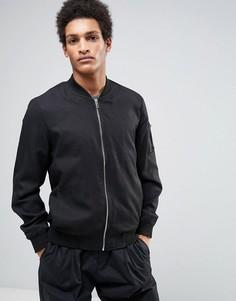 Куртка-пилот в стиле MA1 Casual Friday - Черный