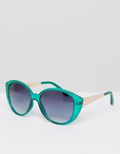 Массивные солнцезащитные очки кошачий глаз AJ - Зеленый