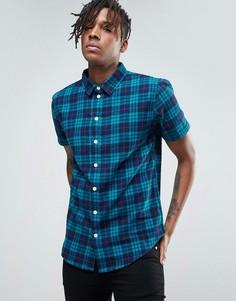 Рубашка в клетку Another Influence - Синий
