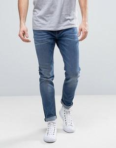 Выбеленные синие джинсы скинни Esprit - Синий