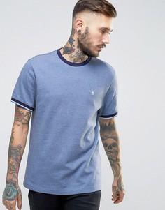 Темно-синяя узкая футболка из пике Original Penguin Ringer - Темно-синий