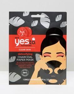 Детоксифицирующая бумажная маска с экстрактом древесного угля Yes To Tomatoes - Бесцветный