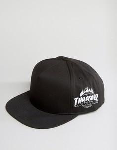 Бейсболка с вышивкой сбоку HUF x Thrasher - Черный
