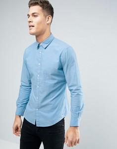 Узкая рубашка с жаккардовой строчкой Esprit - Синий