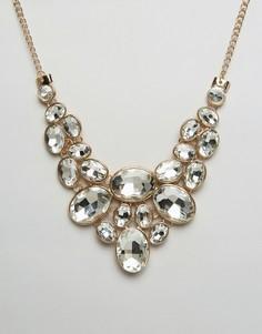Броское ожерелье с камнями Ruby Rock - Золотой