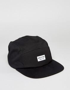 5-панельная кепка Brixton Hendrick - Черный