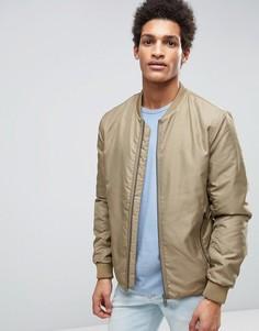Куртка‑пилот с двусторонней молнией Selected Homme - Бежевый