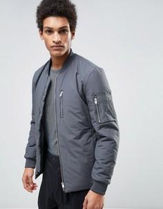 Дутая куртка-пилот Selected Homme - Серый