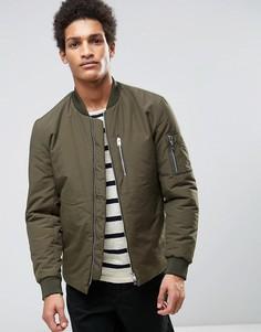 Дутая куртка-пилот Selected Homme - Зеленый