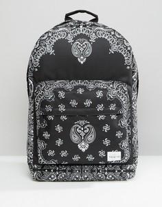 Рюкзак с платочным принтом Spiral - Черный