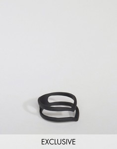Матовое черное двойное кольцо DesignB - Черный