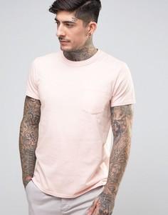 Футболка с карманом Edwin - Розовый