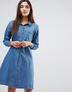 Джинсовое цельнокройное платье Parisian - Синий
