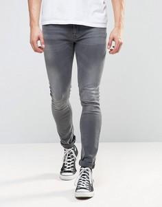 Выбеленные джинсы скинни Nudie Jeans Co Lin - Серый