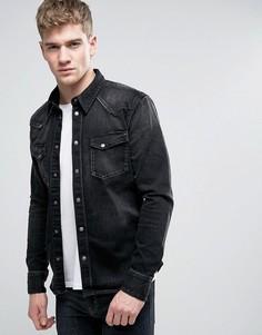 Рубашка навыпуск Nudie Jeans Co Jonis - Черный