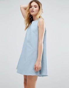 Платье с отделкой Native Youth - Синий