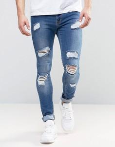 Выбеленные джинсы Brooklyn Supply Co - Синий