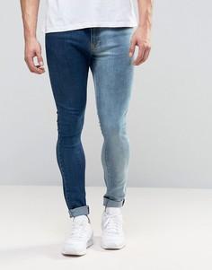 Двухцветные джинсы Brooklyn Supply Co - Синий