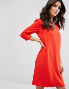 Цельнокройное платье-туника Selected - Красный