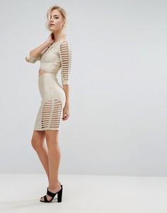 Однотонная юбка Asilio Tech - Золотой